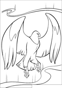 Орел картинки раскраски (59)