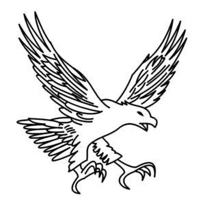 Орел картинки раскраски (60)
