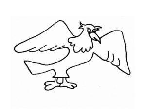 Орел картинки раскраски (63)