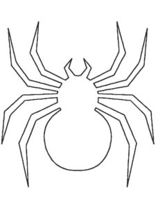 Паучки и пауки картинки раскраски (12)