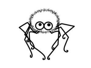 Паучки и пауки картинки раскраски (26)
