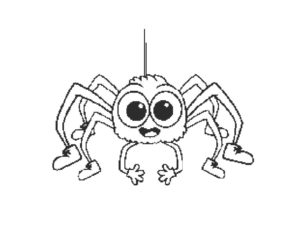 Паучки и пауки картинки раскраски (28)