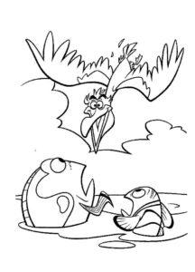 Пеликан картинки раскраски (26)