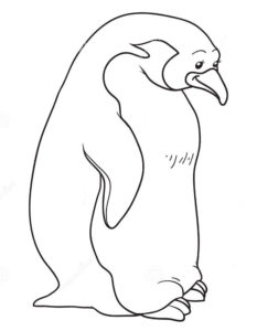 -картинки-раскраски-30-233x300 Пингвин
