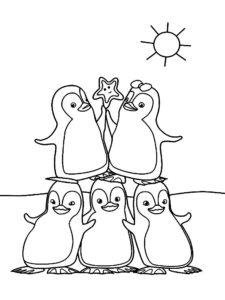 -картинки-раскраски-33-225x300 Пингвин