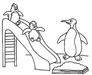 -картинки-раскраски-42-300x246 Пингвин