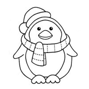 -картинки-раскраски-50-300x300 Пингвин