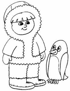 -картинки-раскраски-69-233x300 Пингвин