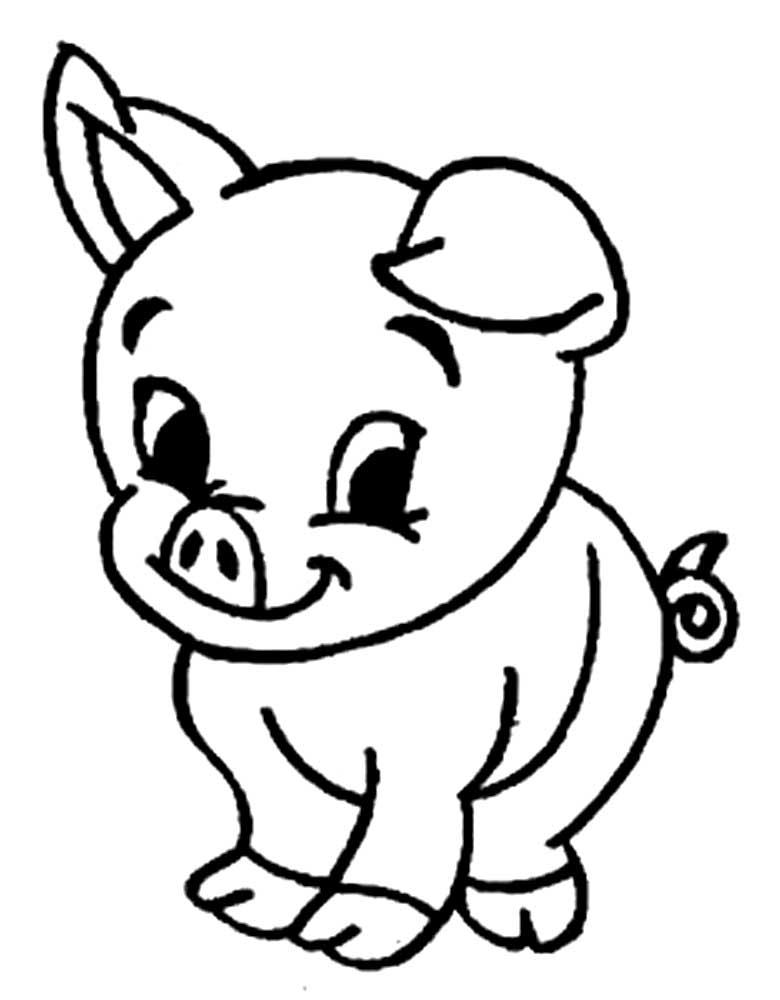 Свинья картинки шаблоны
