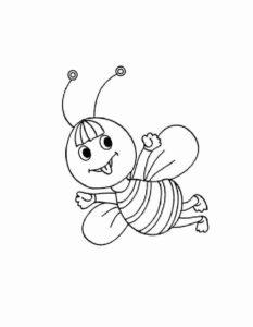 -картинки-раскраски-10-233x300 Пчела