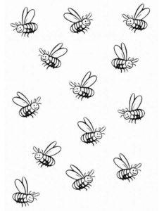 Пчела картинки раскраски (2)