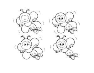 Пчела картинки раскраски (3)