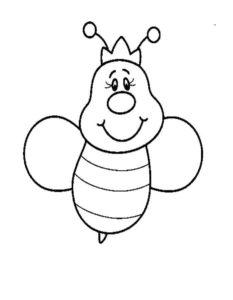 -картинки-раскраски-5-233x300 Пчела