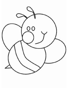 Пчела картинки раскраски (6)