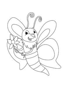 -картинки-раскраски-7-233x300 Пчела