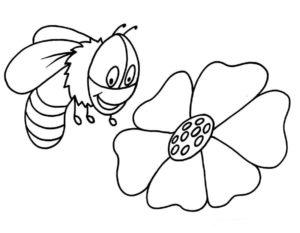 Пчела картинки раскраски (8)