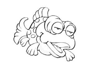 Рыбки картинки раскраски (13)