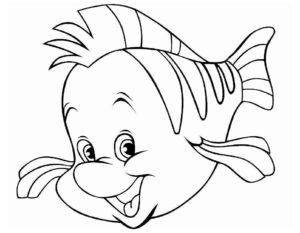 Рыбки картинки раскраски (15)