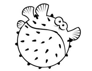 Рыбки картинки раскраски (16)