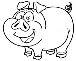 Свинья картинки раскраски (17)