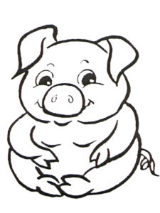 Свинья картинки раскраски (31)