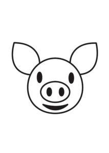 Свинья картинки раскраски (4)