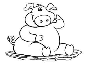 Свинья картинки раскраски (42)