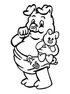 Свинья картинки раскраски (43)