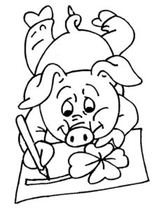 Свинья картинки раскраски (44)