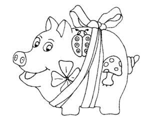 Свинья картинки раскраски (45)