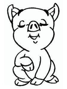 Свинья картинки раскраски (54)