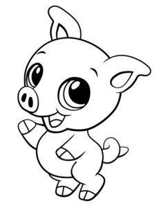 Свинья картинки раскраски (66)