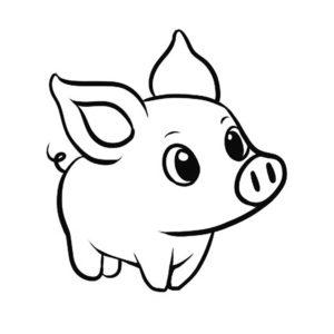 Свинья картинки раскраски (69)