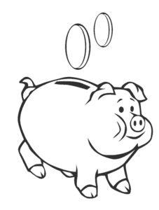 Свинья картинки раскраски (7)