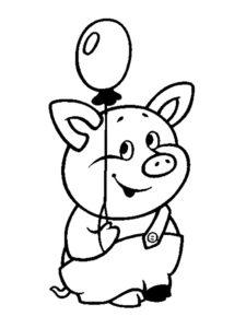 Свинья картинки раскраски (72)