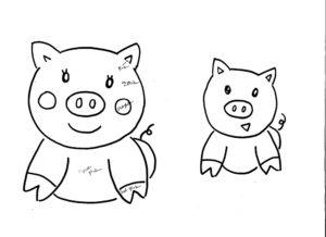 Свинья картинки раскраски (73)