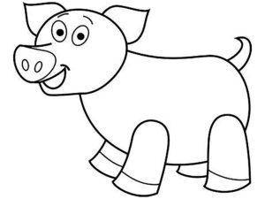 Свинья картинки раскраски (8)