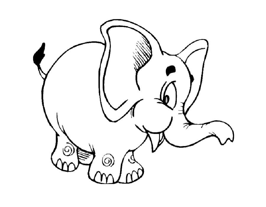 картинка слоника для раскрашивания