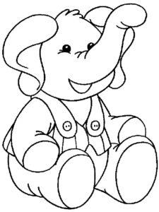 Слон картинки раскраски (11)