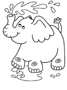 Слон картинки раскраски (14)