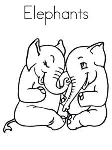 Слон картинки раскраски (15)