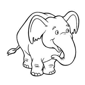 Слон картинки раскраски (23)