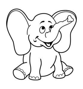 Слон картинки раскраски (24)