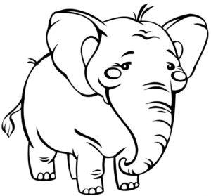 Слон картинки раскраски (26)