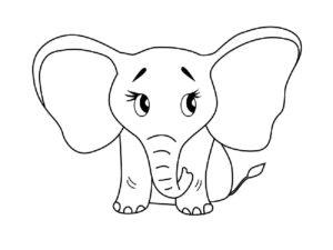 Слон картинки раскраски (28)