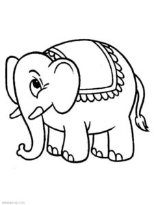 Слон картинки раскраски (30)