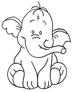 Слон картинки раскраски (31)