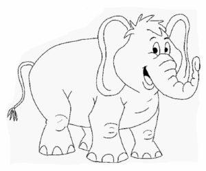 Слон картинки раскраски (34)