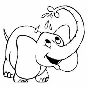 Слон картинки раскраски (35)