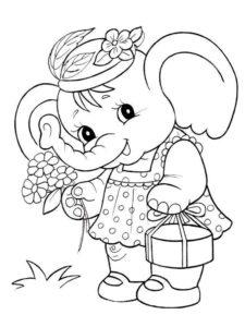 Слон картинки раскраски (4)